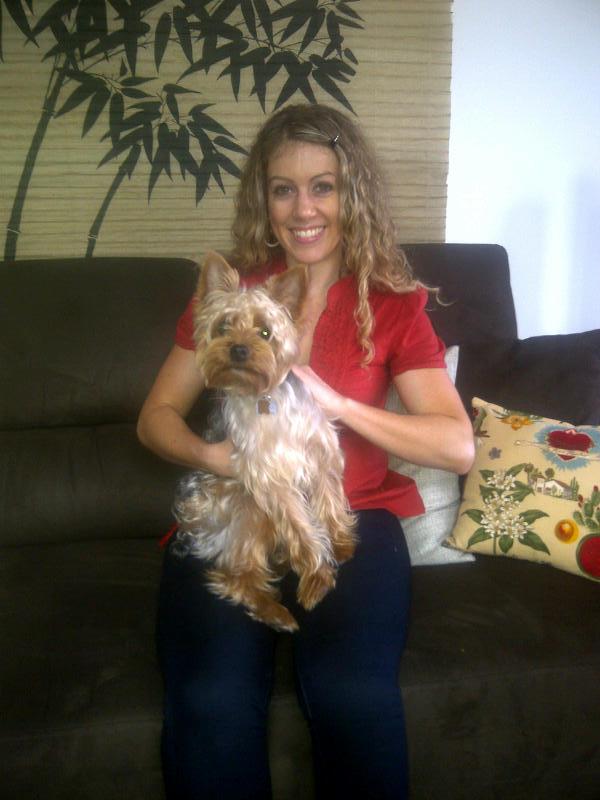 Ali J. Chernoff with her dog
